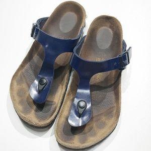 Birkenstock Gizeh Sandal Blue Size 40 9-9.5